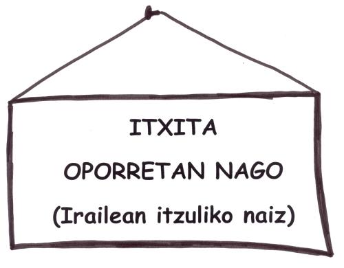 itxita-oporretan nago